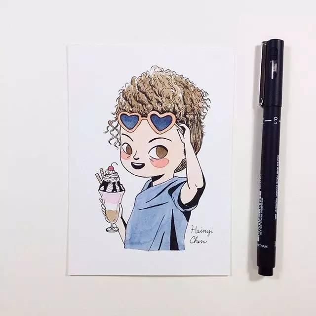 彩铅卡通人物那么可爱,你会画吗