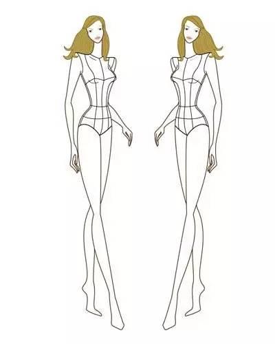 时装人体动态 | 从9头身到时装效果图线稿表现!