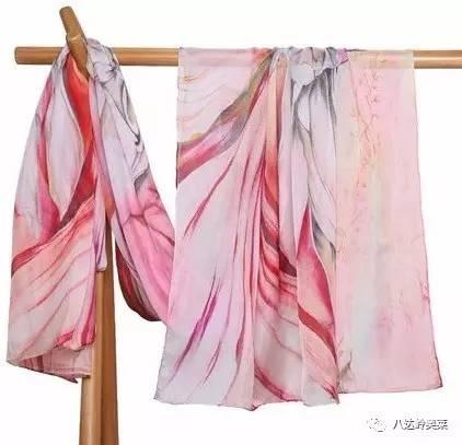 丝巾手绘款式图