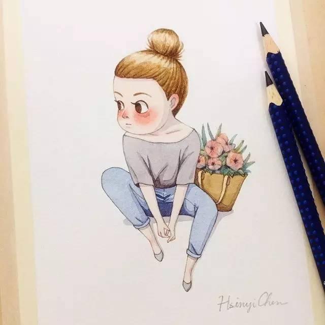 彩铅卡通人物那么可爱,你会画吗?