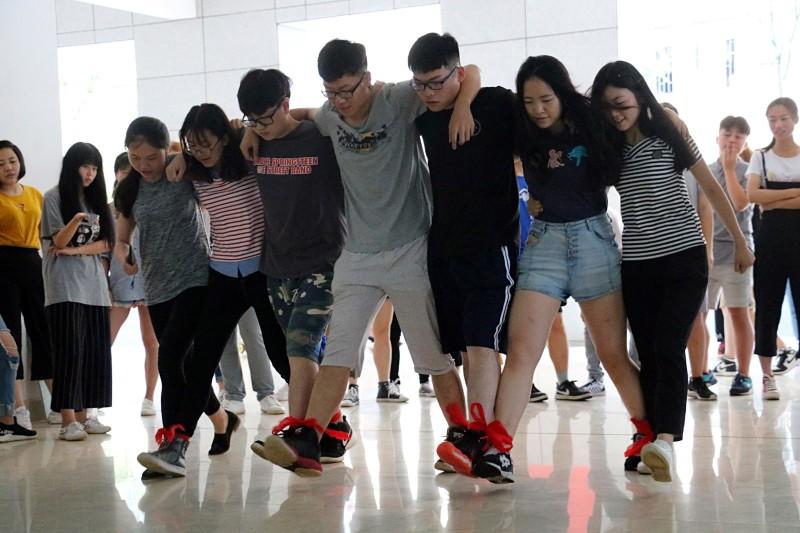 中南林业科技大学学生会早训素质拓展活动圆满结束