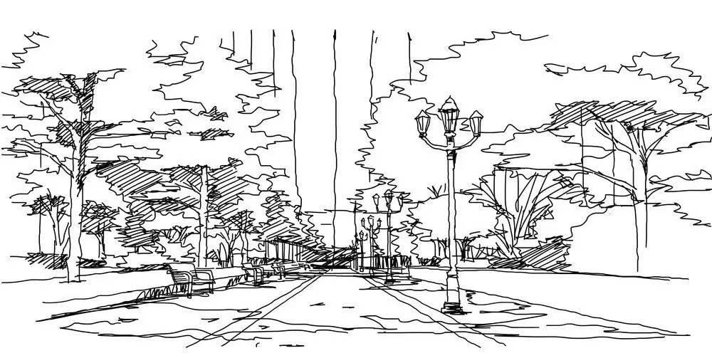 社区空间设计手绘图