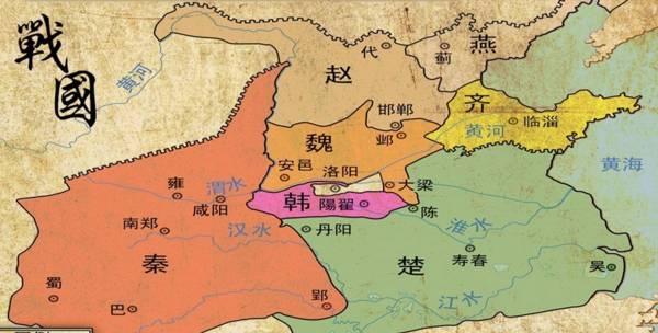 战国地图全图 战国七雄疆域图