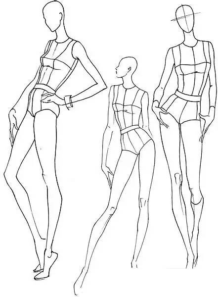 人艺体囹?a?????*9.?_时装人体动态 | 从9头身到时装效果图线稿表现!