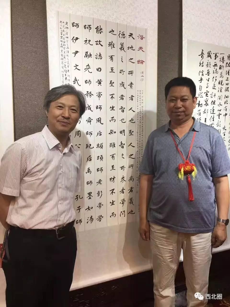 中国书法之乡甘肃镇原书画作品晋京展在民族文化宫隆重开幕图片