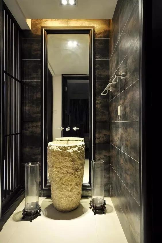 新中式卫生间,别具一格!图片