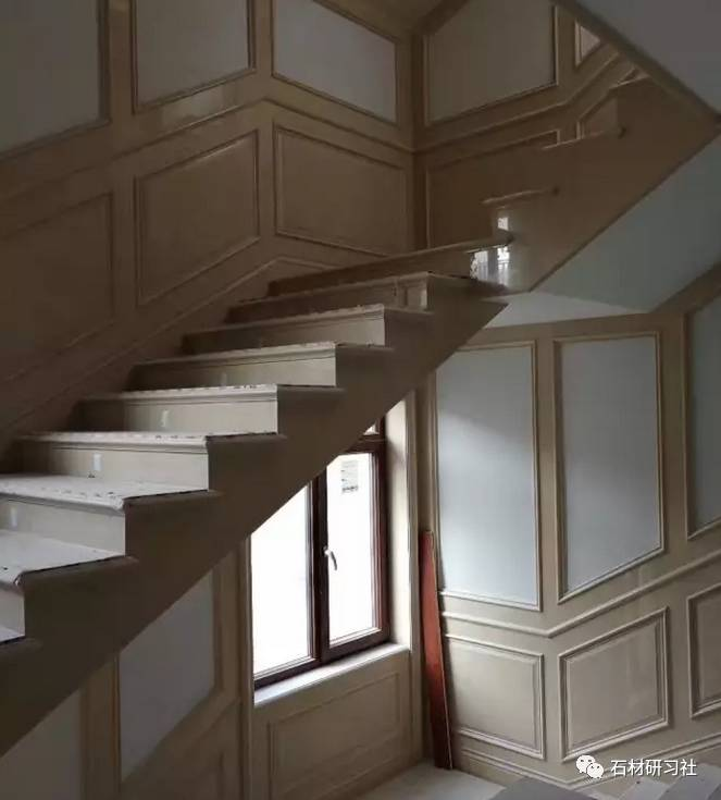 大理石楼梯护墙,踏步,栏杆案例实拍