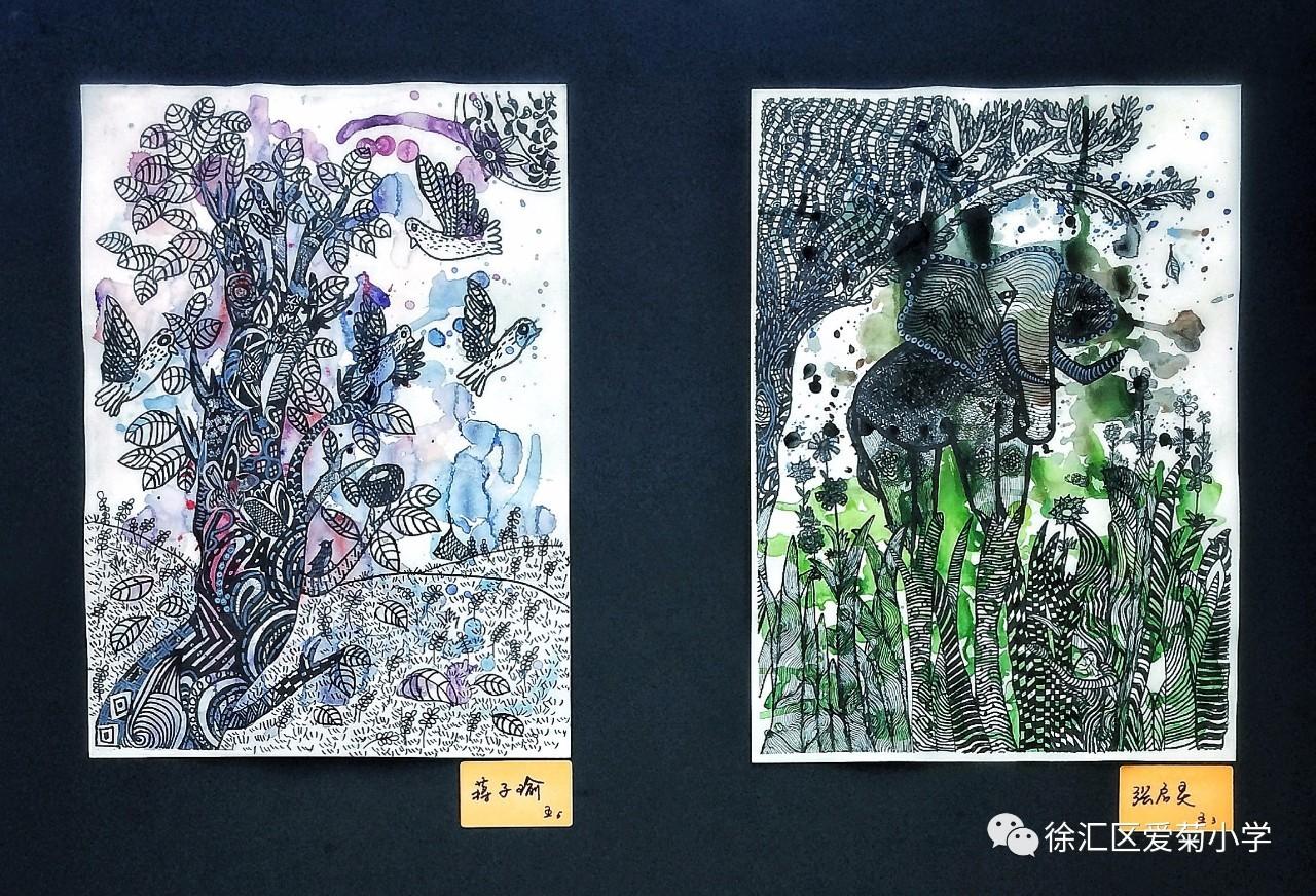 肆意笔墨,七彩童年丨爱菊小学五年级美术班毕业画展