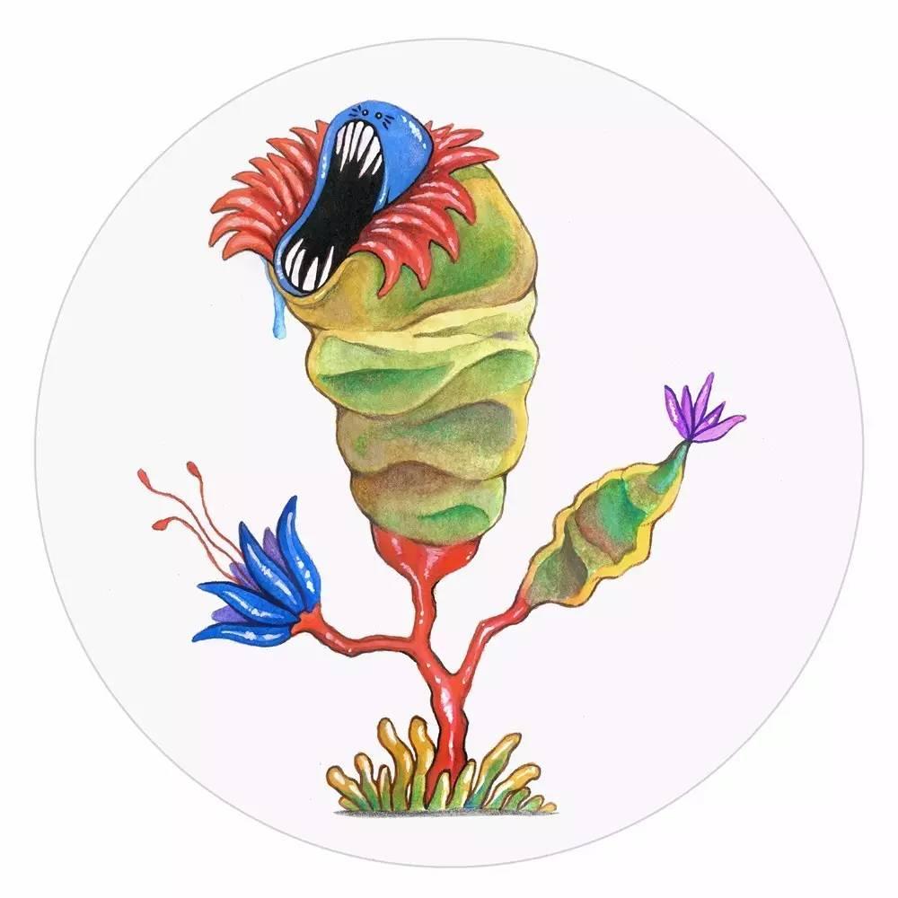 这些植物怪兽   拥有三头六臂,长得像是史前动物.