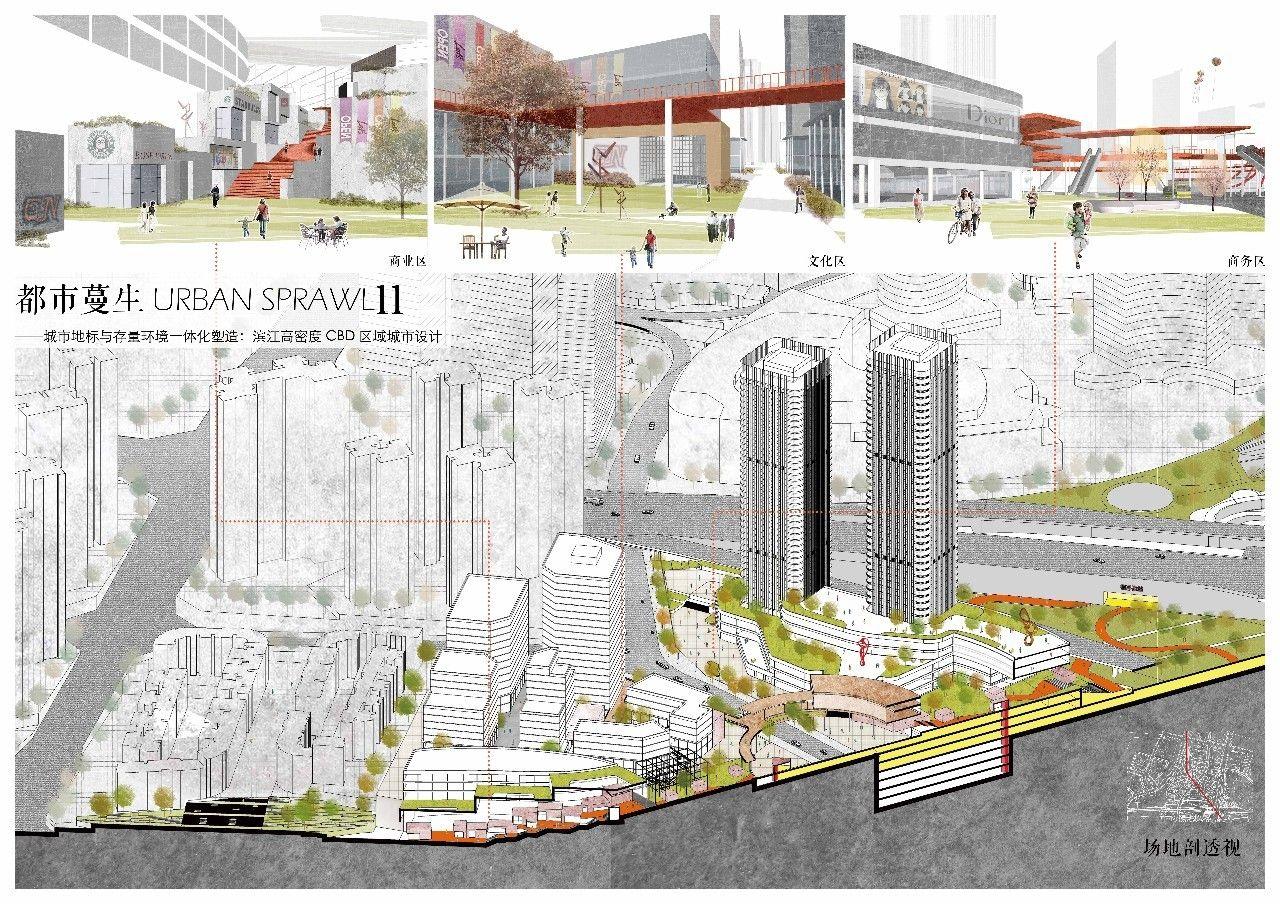 建卒课堂丨重庆大学建筑城规学院建筑学专业本科四年级城市设计课题