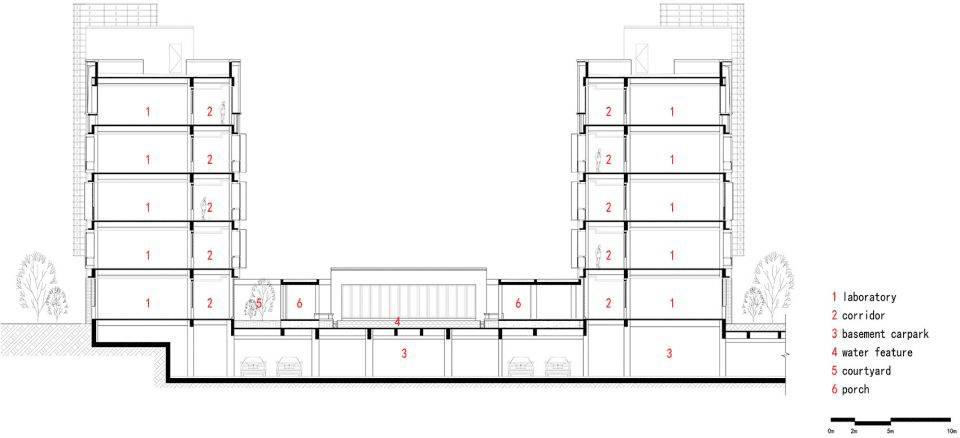 项目名称:泰州中学新校区   ▼科学技术楼一层平面图   ▼教学楼立面