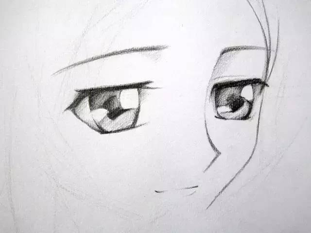 动漫素描教程 | 简单的卡通mm手绘教程