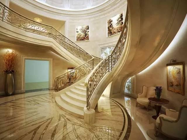 娱乐 正文  别墅楼梯设计是整个空间布局的构架之一,也是展示空间艺术