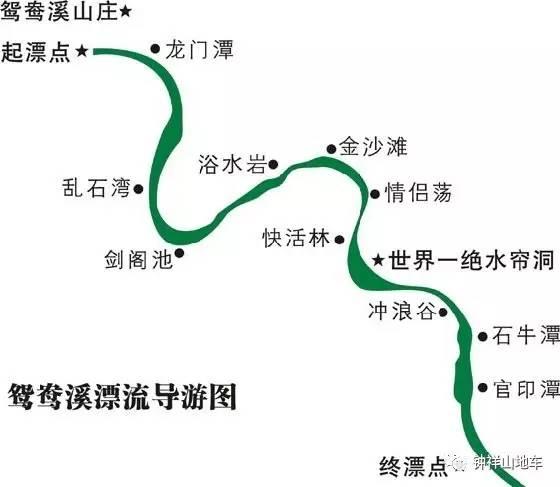 京山鸳鸯溪漂流 【指标】风景指数:★★★★ 线路难度:初级(景区游玩)
