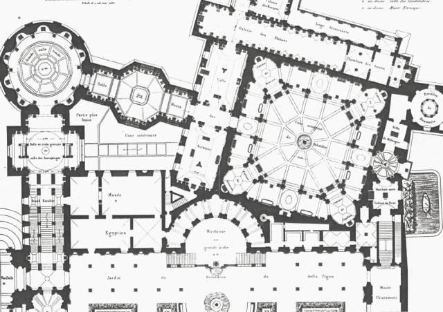 图01/梵蒂冈望景楼博物馆平面图