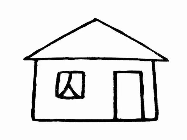 幼儿园房子简笔画系列