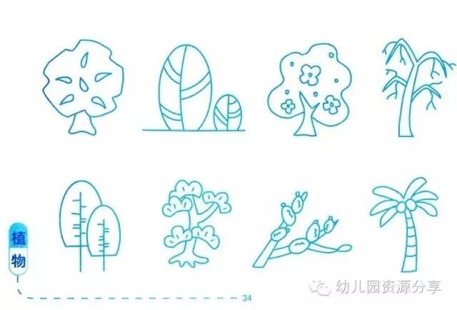 植物类简笔画,简单也是美