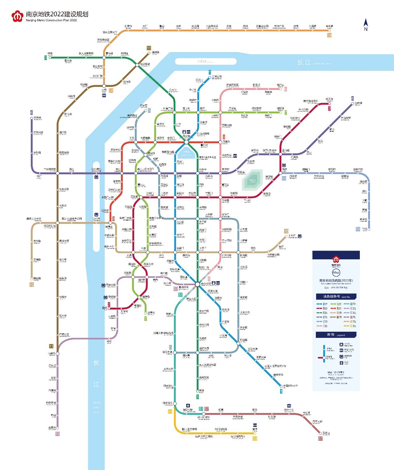 南京编个区要逆天!未唻蒋有12条地铁!看看哪个地铁站经过尼家门口?