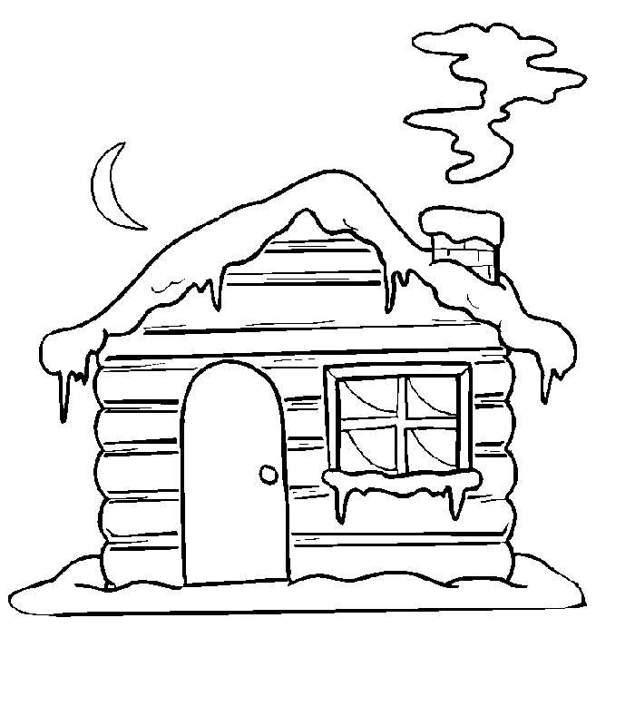 建筑简笔画大全 木头房子简笔画图片