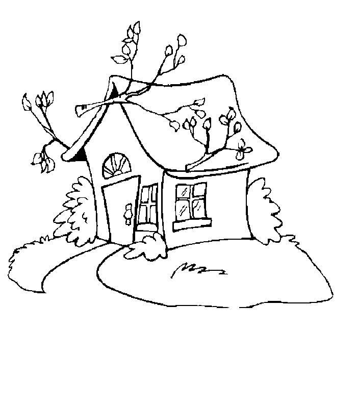 大树房子简笔画图片
