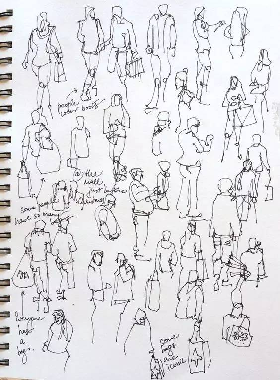 手绘技巧-01 | 设计草图中的人物应该怎么画?