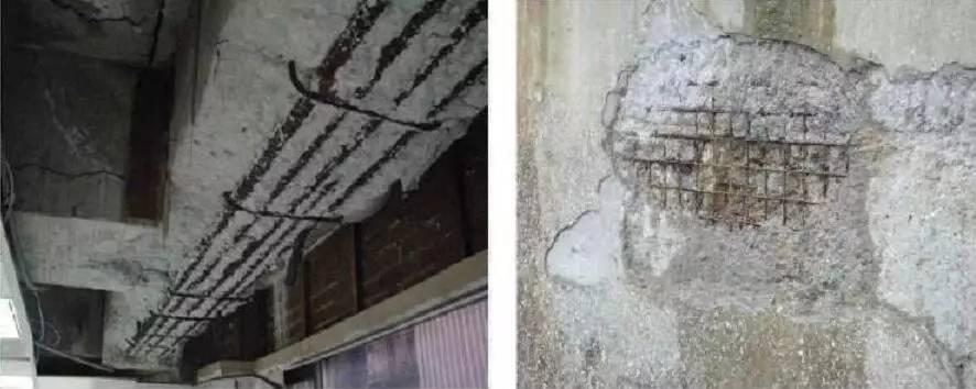 盐雾腐蚀,融雪剂腐蚀和冻融破坏的混凝土结构.