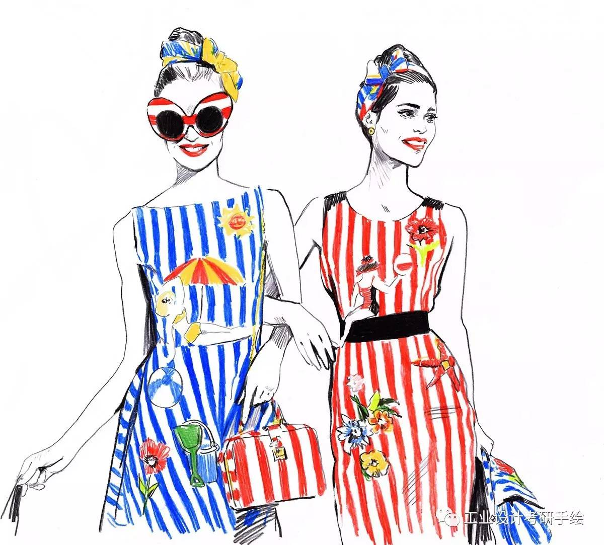 服装手绘图欣赏
