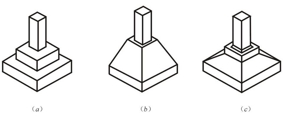 教育 正文  (a)阶梯形 (b)锥形 (c)杯性 独立基础 (3)井格基础 当结构