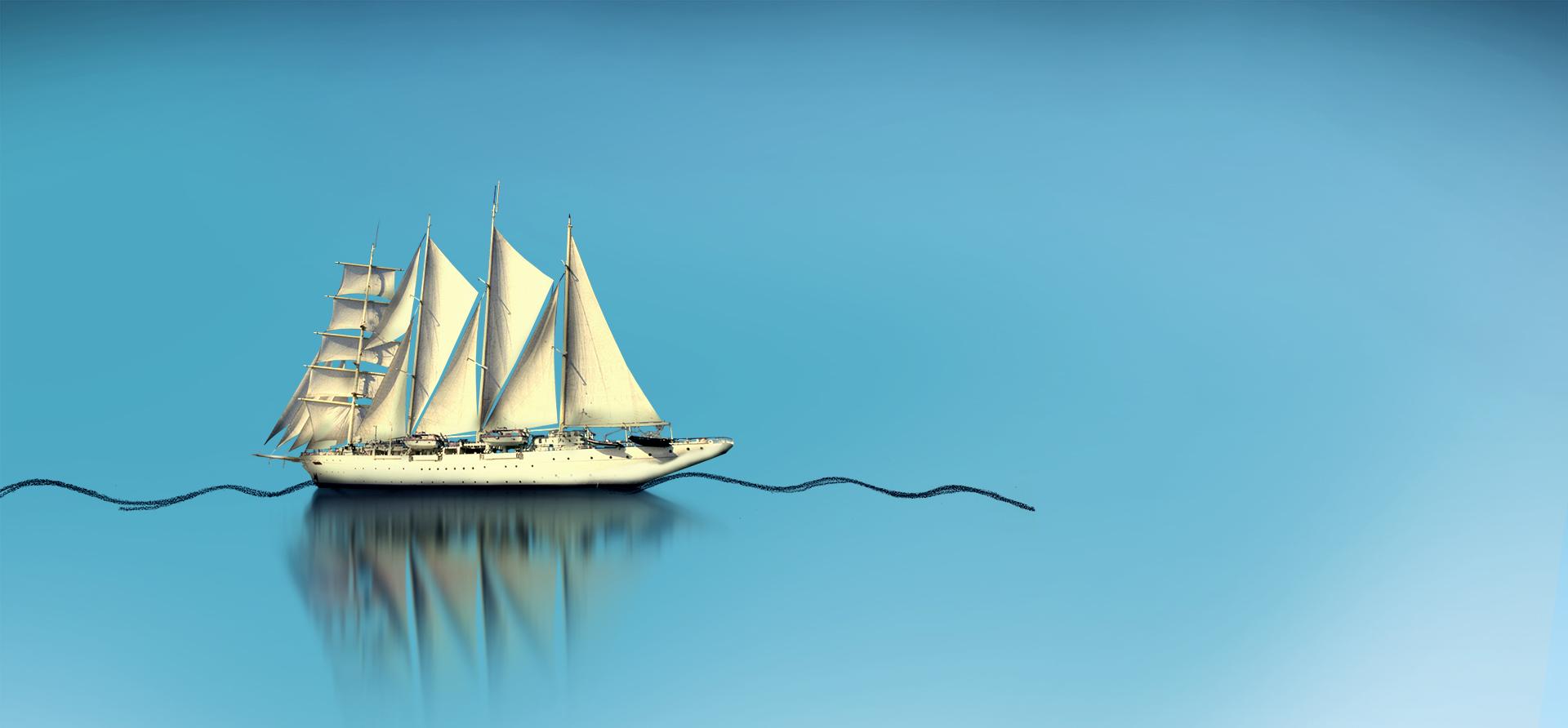 小船剪纸步骤图解