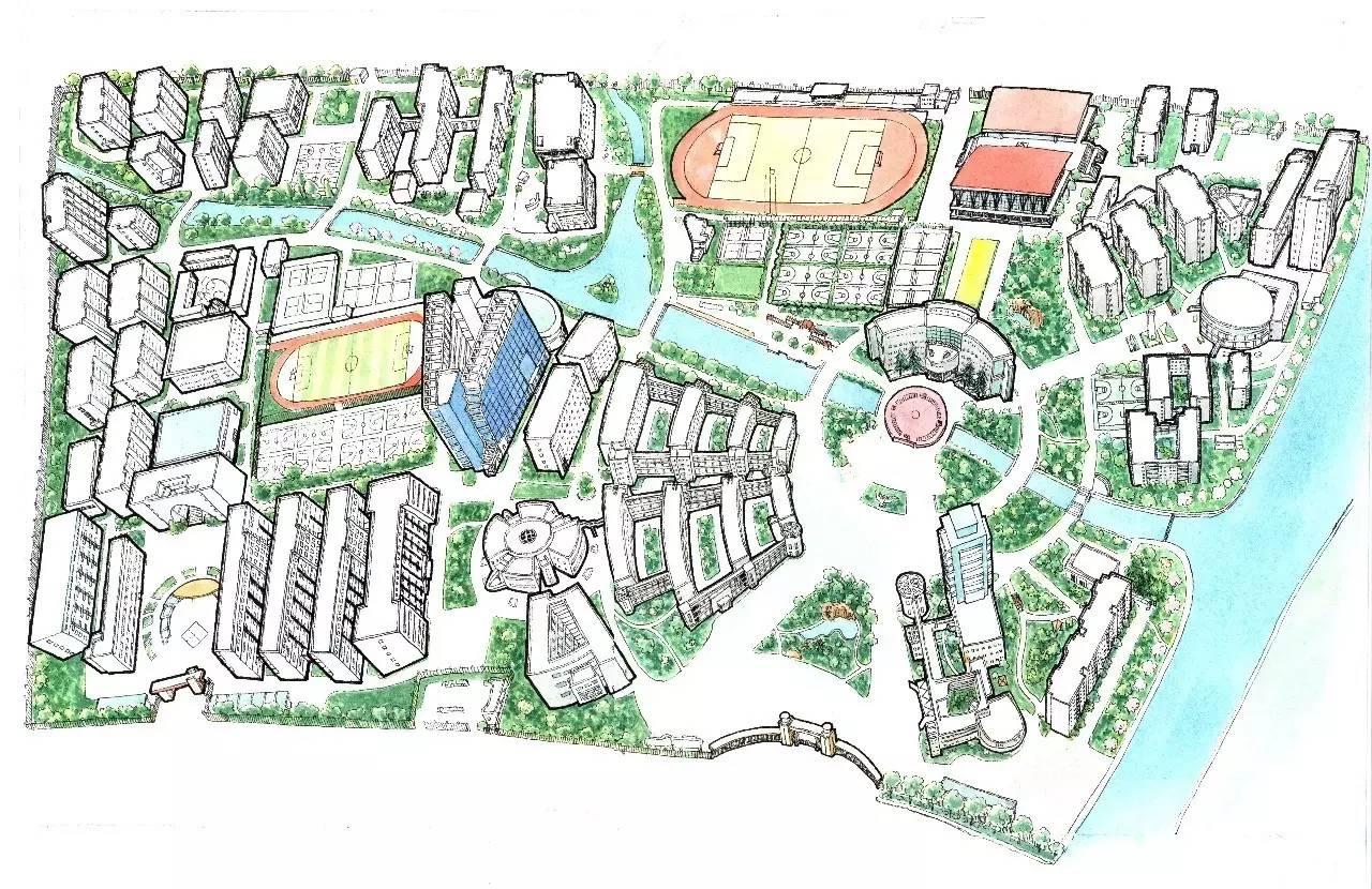 宁波地图手绘作品