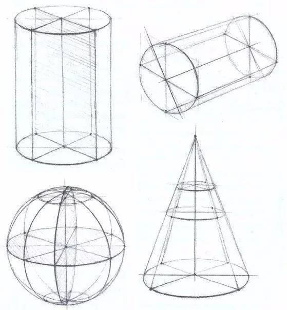 结构知识 都可以在几何体的基础上解决掉 眼睛看作球体,嘴巴看作圆柱