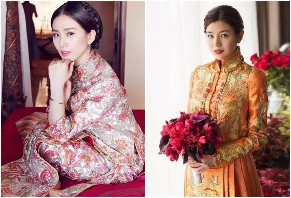 时尚 正文  明星婚礼可谓刮起了一股中式裙褂风潮, 吉祥喜庆的中国红图片