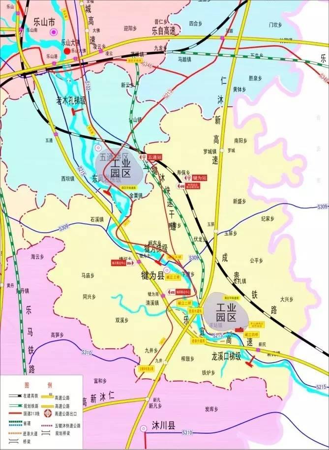 犍为公路规划图