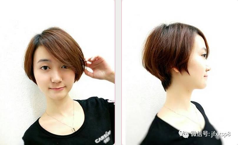 夏季短发发发型书五图片