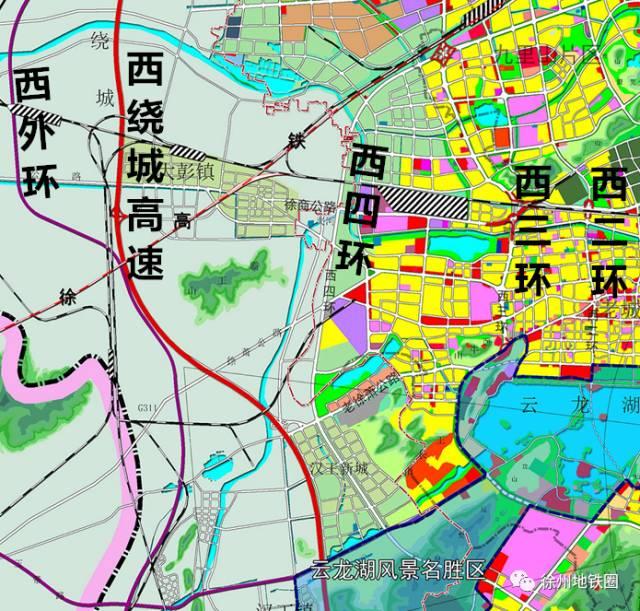 徐州四环最新规划图