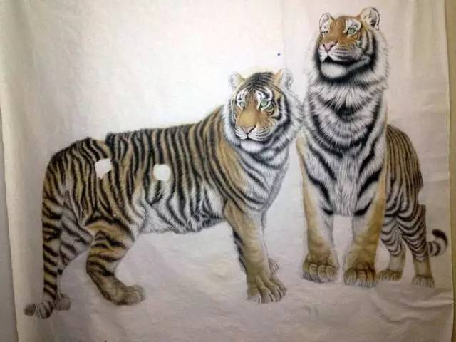 工笔老虎画的绘画过程 工笔画老虎白描步骤与技法