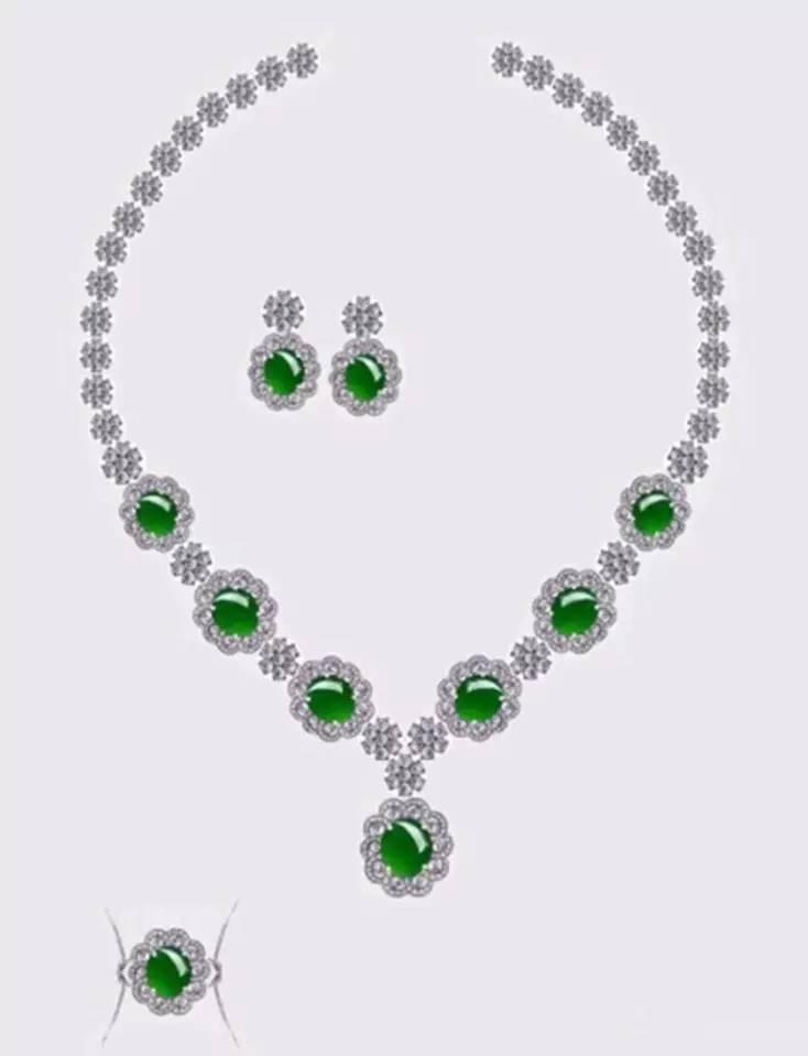 珠宝翡翠镶嵌设计图,收藏起来吧!