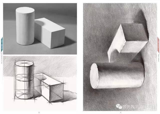 注重基础练习 循序渐进 亮点四 将石膏几何体,结构素描结合 结构认知