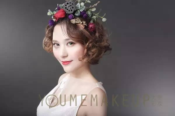 2017短发新娘造型来袭,美的无法言喻!图片