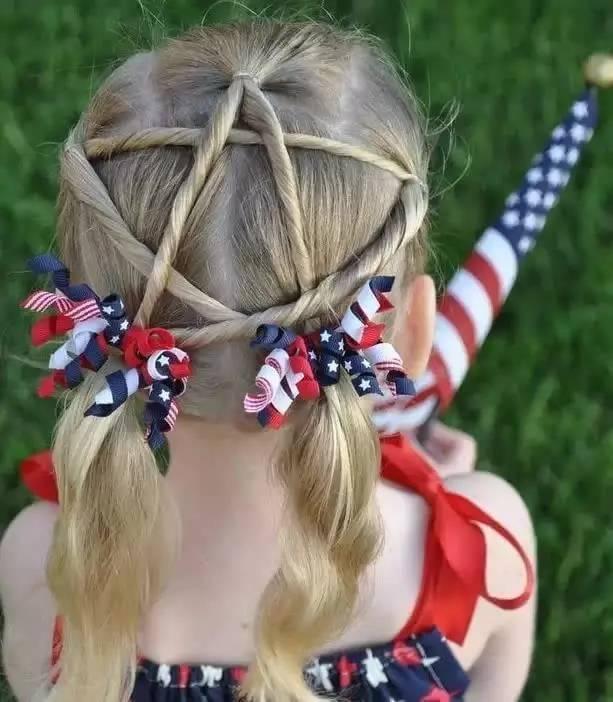 小女孩儿童编发发型图片欣赏