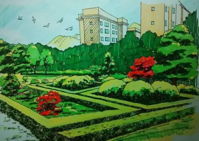 你们学校的手绘图简直美出了天际,你知道吗?