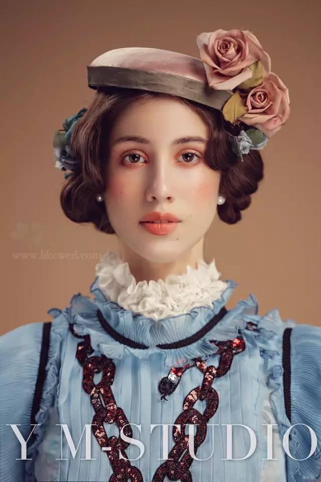 高贵而冷艳的欧式复古新娘造型,美.