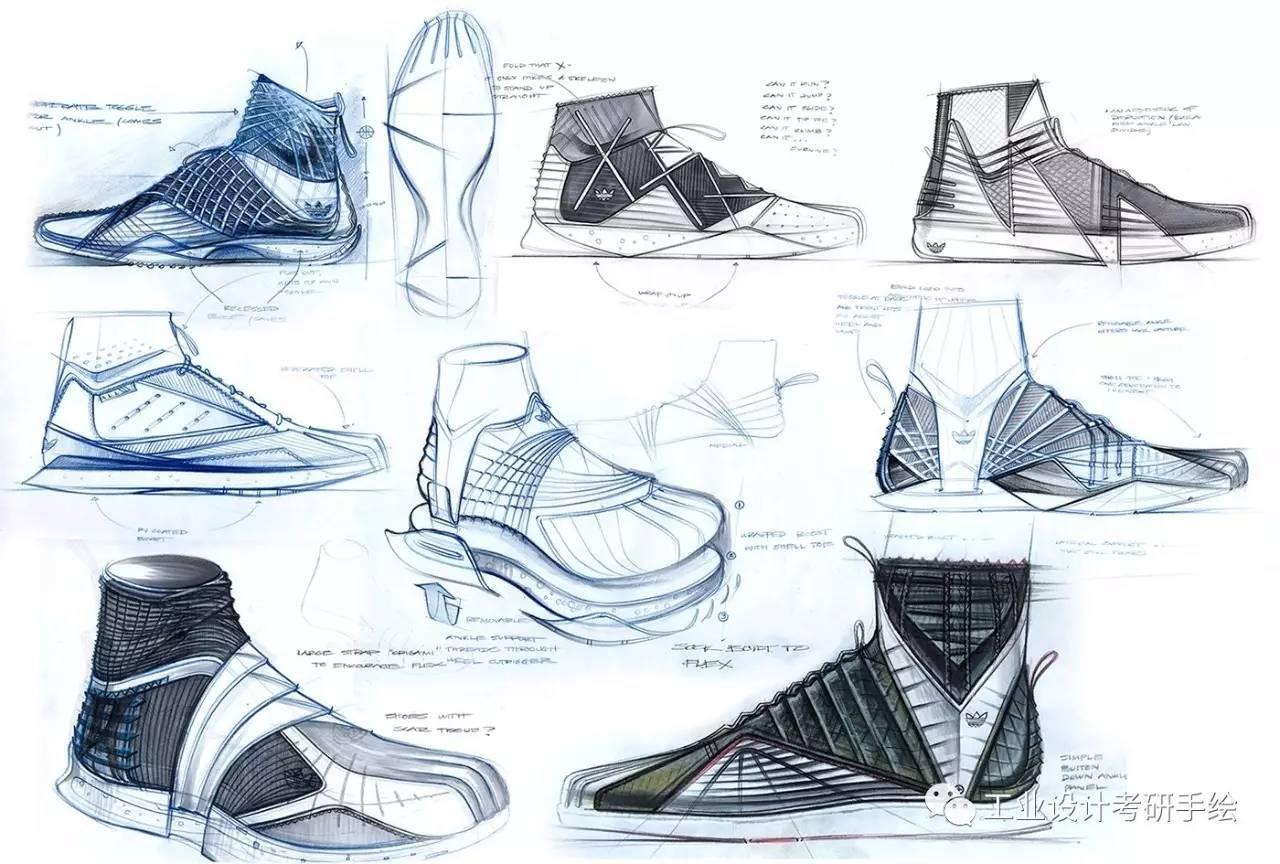 鞋子手绘草图欣赏
