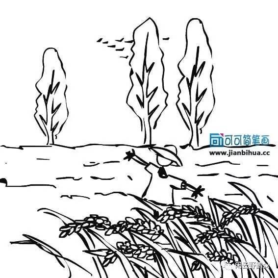 秋手绘简笔画
