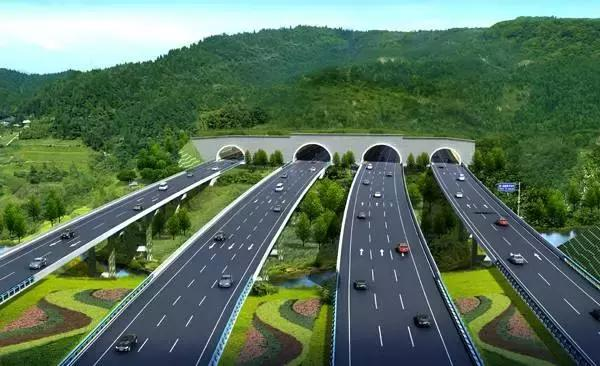 """(""""新机场高速""""重点控制工期工程——龙泉山1号隧道平面布置示意图图片"""