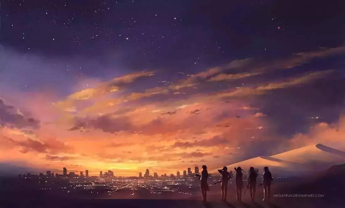 如《你的名字》般的唯美插画,梦幻又极具童话色彩!