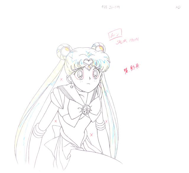美少女战士 1(线稿) 《美少女战士》水冰月全身绘附背景