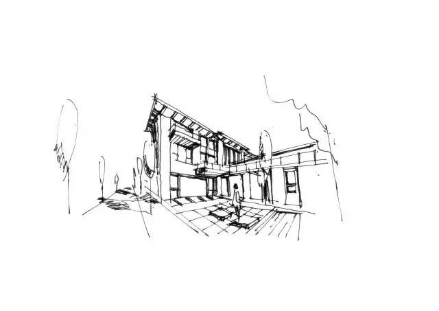 建筑透视分析图
