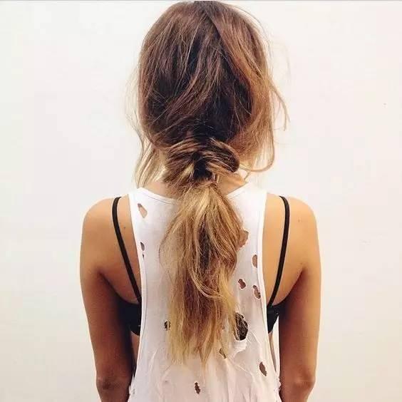 半包头简单又方便还是近段时间的流行发型,而且没有发长限制,短发,中图片
