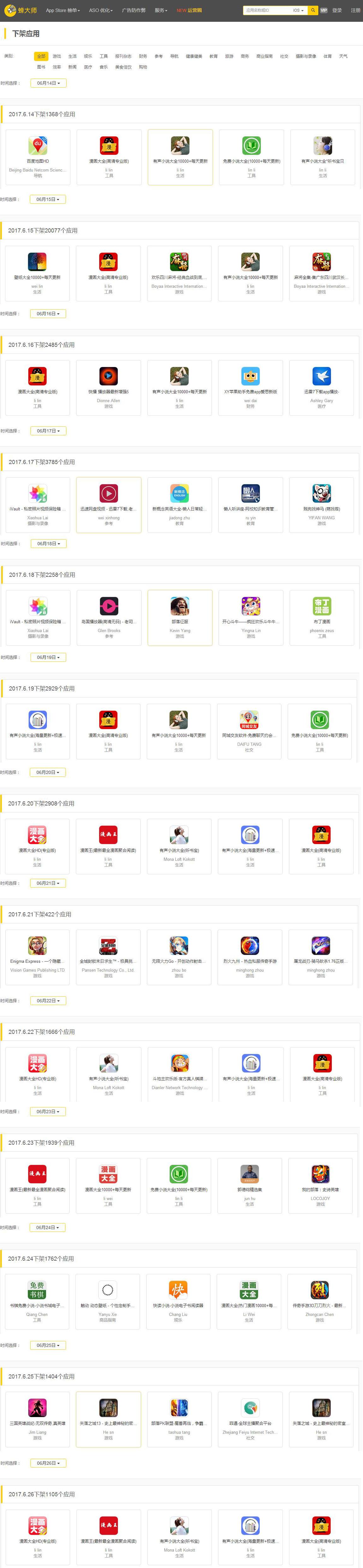 龙榜ASO优化师疯狂六月:苹果下架8万余款应用,游戏类近3万 第3张